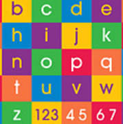 Alphabet Colors Art Print by Michael Tompsett