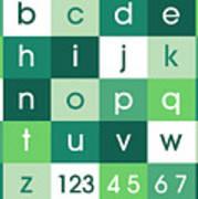 Alphabet Green Art Print
