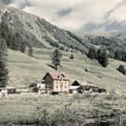 Alpine Farm Art Print