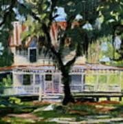 Alpine Grove Farmhouse Art Print