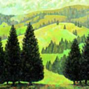 Alpine Hills Art Print