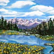 Alpine Lake Colorado Usa Art Print