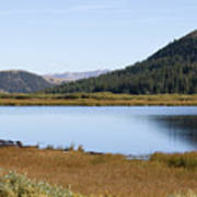 Alpine Lake In The Arapahoe National Forest Art Print