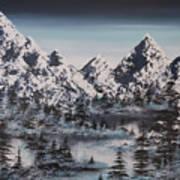 Alpine Peaks Art Print