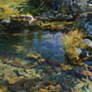 Alpine Pool Art Print