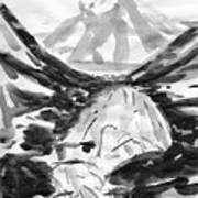 Alpine River Art Print