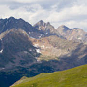 Alpine Tundra And The Colorado Continental Divide Art Print