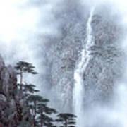 Alpine Waterfall Art Print