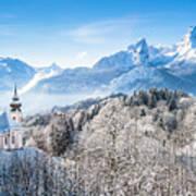 Alpine Winterdreams Art Print