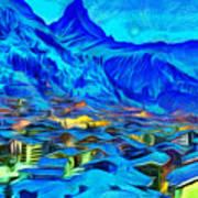 Alps Of Switzerland - Pa Art Print
