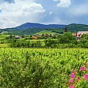 Alsace Landscape, France Art Print