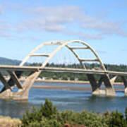 Alsea Bridge II Br-7005 Art Print