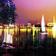 Alster In The Evening Art Print