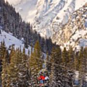Alta Ski Resort Wasatch Mts Utah Art Print