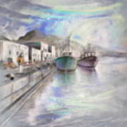 Altea Harbour On The Costa Blanca 01 Art Print