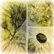 Altered Florals Art Print