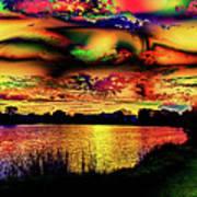 Alternative Cloud Design Art Print