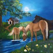 Alyssas Horses Art Print