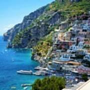 Amalfi Coast, Positano, Italy Art Print