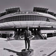 Amalie Arena Black And White Art Print