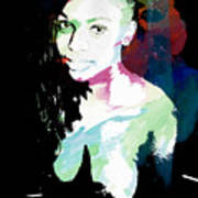 Amani African American Nude Fine Art Painting Print 4966.03 Art Print