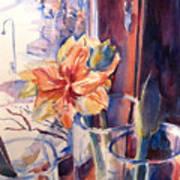 Amaryllis In The Window Art Print
