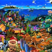 Amazing Coral Reef Art Print