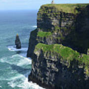 Amazing Look At The Sea Cliff's Of Moher In Ireland Art Print