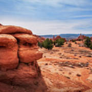 Amazing Rock Formations At Kodachrome Basin State Park, Usa. Art Print