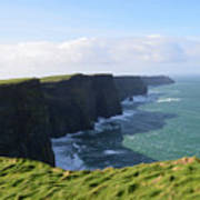 Amazing Scenic Views Of The Cliff's Of Moher Art Print