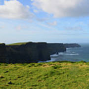 Amazing Views Of The Cliff's Of Moher In Ireland Art Print