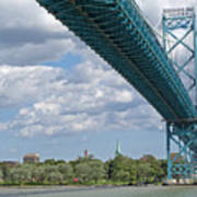 Ambassador Bridge - Windsor Approach Art Print