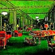 Ambassador Hotel Lobby, Los Angeles, 1935 Art Print
