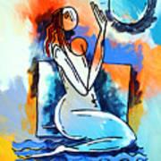 Ameeba- Nude Woman On Beach 5 Art Print
