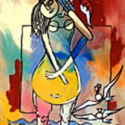 Ameeba- Pear Woman Art Print