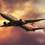 American Airlines 767 N345an Art Print
