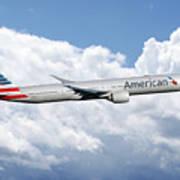 American Airlines Boeing 777 Art Print