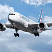 American Airlines Boeing 787 Dreamliner Art Print
