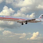 American Airlines Md-80 Art Print