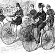 American Bicyclists, 1879 Art Print