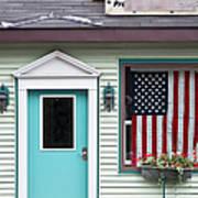 American Curtain  Art Print