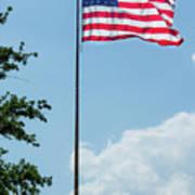 American Flag Flying Proud Art Print