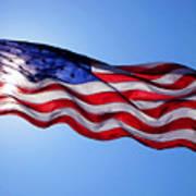 American Flag Fort Sumter Art Print