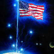 American Flag. The Star Spangled Banner Art Print
