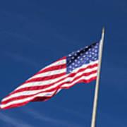 American Flag Waving In The Breeze Art Print