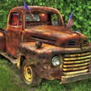 American Ford 1950 F-1 Ford Pickup Truck Art Art Print