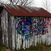 American Graffiti 4   Zig Zag Man Art Print