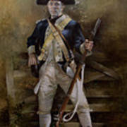 American Infantryman C.1777 Art Print by Chris Collingwood