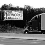 American Interstate - Pennsylvania I-80 Bw 2 Art Print