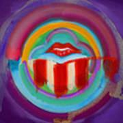 American Kiss Art Print